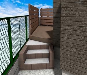 ブロック階段のイメージ図